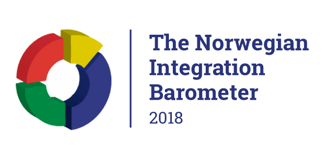 Logo for the Norwegian integration barometer